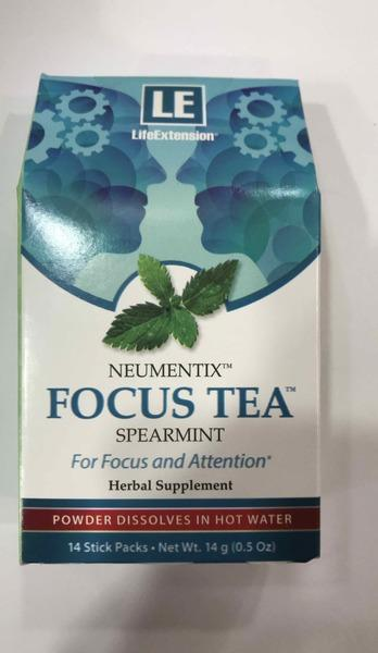 NEUMENTIX FOCUS TEA FOR FOCUS AND ATTENTION HERBAL SUPPLEMENT STICK PACKS, SPEARMINT