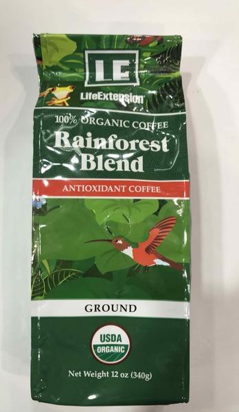 RAINFOREST BLEND 100% ORGANIC ANTIOXIDANT  GROUND COFFEE