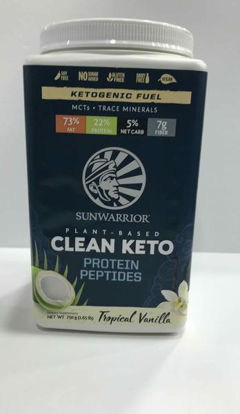 KETOGENIC FUEL PROTEIN PEPTIDES DIETARY SUPPLEMENT, TROPICAL VANILLA