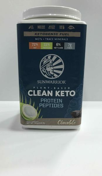 CHOCOLATE PLANT-BASED CLEAN KETO PROTEIN PEPTIDES DIETARY SUPPLEMENT