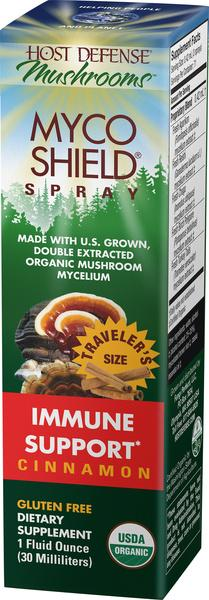 ORGANIC MUSHROOMS MYCELIUM IMMUNE SUPPORT GLUTEN FREE DIETARY SUPPLEMENT SPRAY, CINNAMON
