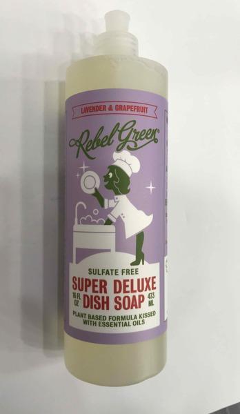 SULFATE FREE SUPER DELUXE DISH SOAP, LAVENDER & GRAPEFRUIT