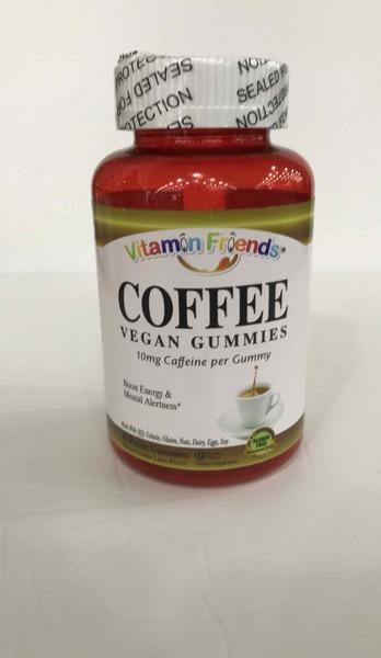 NATURAL VANILLA LATTE FLAVOR COFFEE VEGAN PECTIN GUMMIES DIETARY SUPPLEMENT