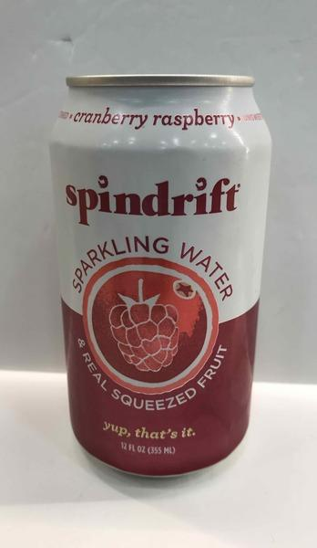 CRANBERRY RASPBERRY UNSWEETENED SPARKLING WATER & REAL SQUEEZED FRUIT