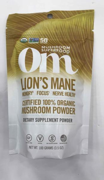LION'S MANE MEMORY, FOCUS, NERVE HEALTH DIETARY SUPPLEMENT MUSHROOM POWDER