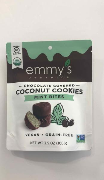MINT CHOCOLATE COVERED COCONUT COOKIES BITES