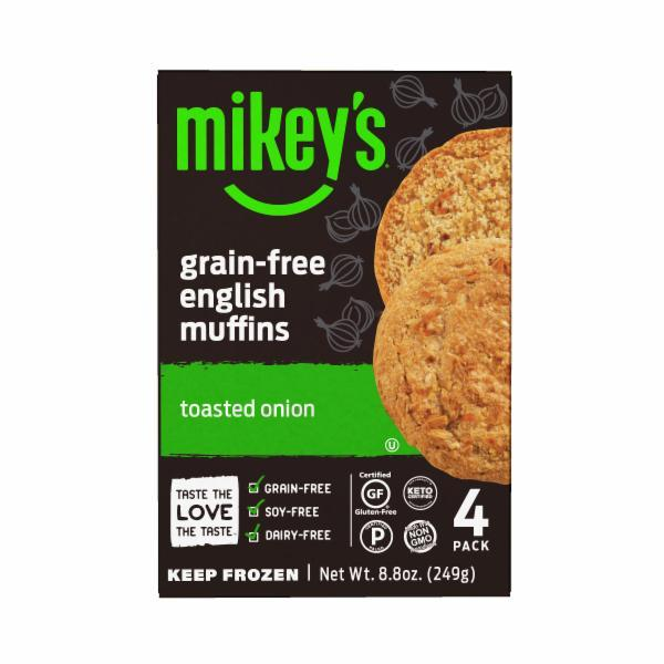 TOASTED ONION GRAIN-FREE ENGLISH MUFFINS