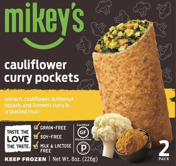 SPINACH, CAULIFLOWER, BUTTERNUT SQUASH, AND TURMERIC CURRY IN A TOASTED CRUST CURRY POCKETS