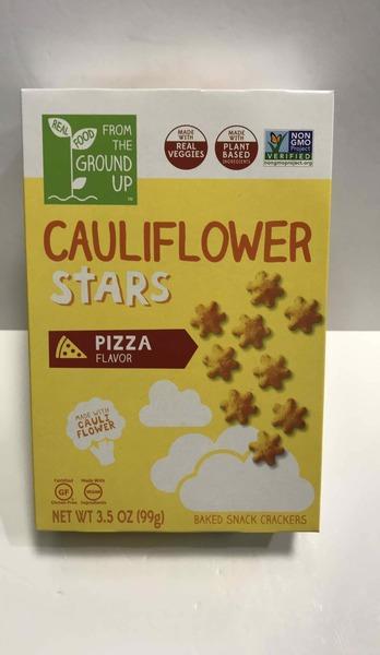 PIZZA FLAVOR CAULIFLOWER STARS BAKED SNACK CRACKERS