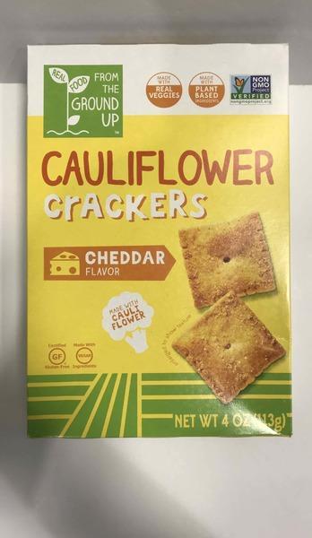 CHEDDAR CAULIFLOWER CRACKERS