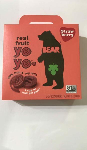 STRAWBERRY REAL FRUIT YOYO'S & VEG ROLLS