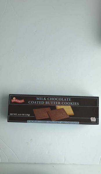 MILK CHOCOLATE COATED BUTTER COOKIES