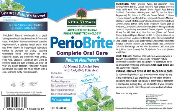 COMPLETE ORAL CARE NATURAL MOUTHWASH, WINTERMINT