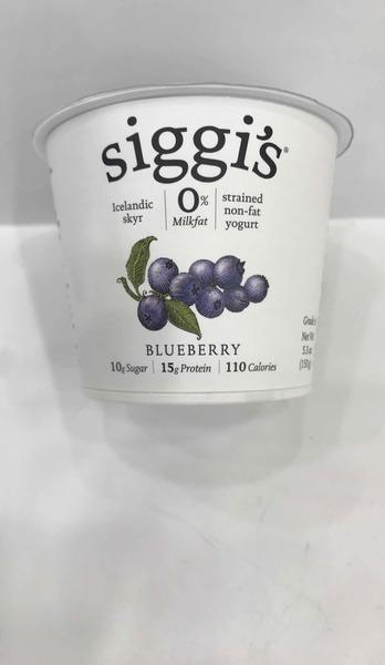 BLUEBERRY STRAINED NON-FAT YOGURT