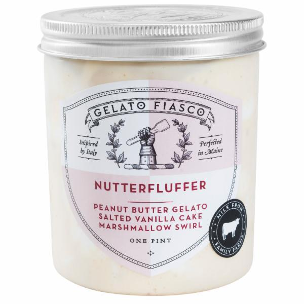 NUTTERFLUFFER PEANUT BUTTER GELATO MARSHMALLOW SWIRL POUND CAKE