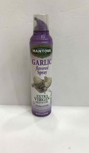 GARLIC FLAVORED EXTRA VIRGIN OLIVER OIL SPRAY