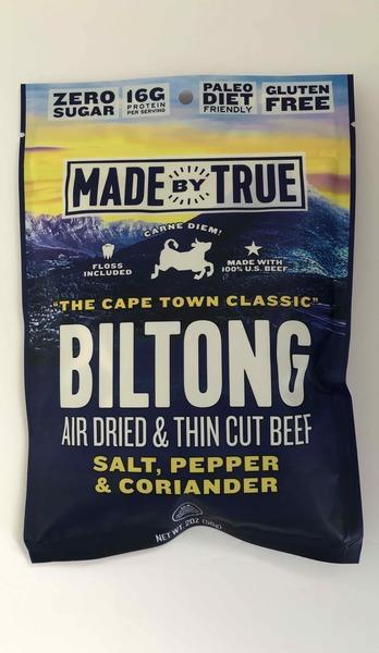 SALT, PEPPER & CORIANDER BILTONG AIR DRIED & THIN CUT BEEF