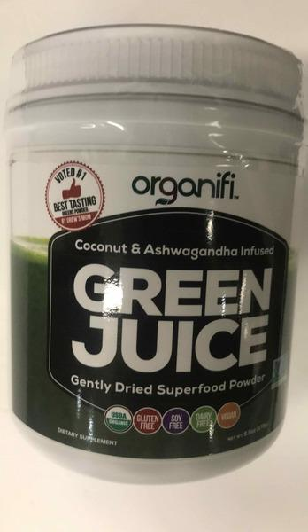 COCONUT & ASHWAGANDHA INFUSED GREEN JUICE GENTLY DRIED SUPERFOOD DIETARY SUPPLEMENT POWDER