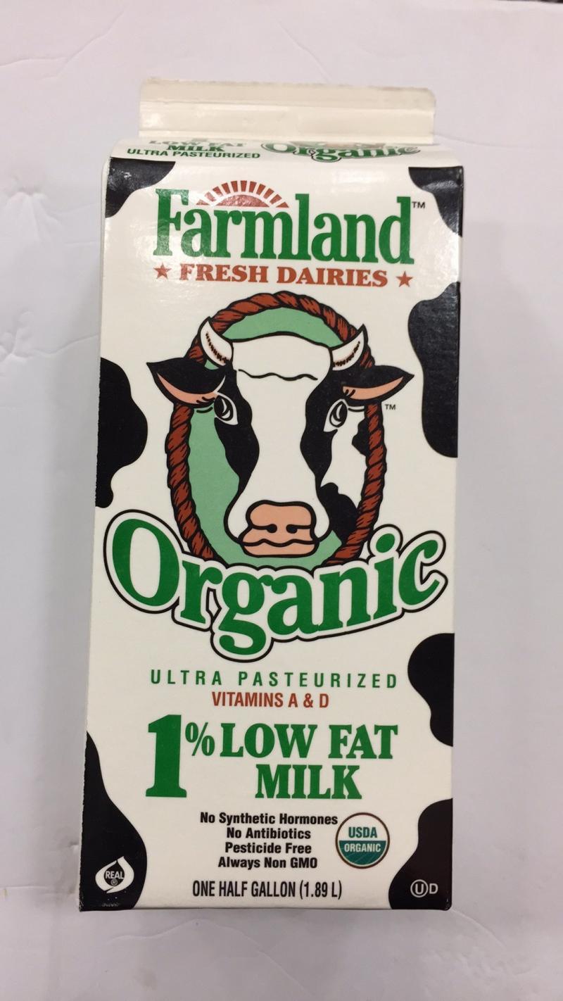 Organic 1% Low Fat Milk