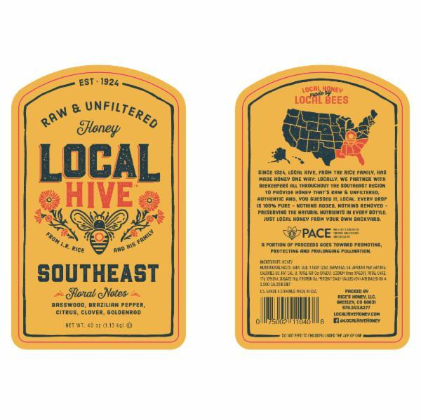 SOUTHEAST FLORAL NOTES RAW & UNFILTERED HONEY