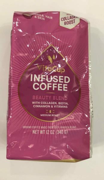 BEAUTY BLEND MEDIUM ROAST 100% ARABICA BEANS INFUSED GROUND COFFEE