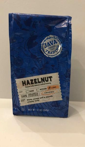 LIGHT HAZELNUT GROUND NUTTY AROMA AND A SMOOTH CREAMY BODY 100% ARABICA COFFEE