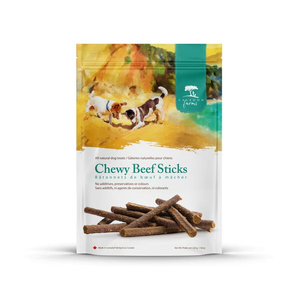ALL NATURAL CHEWY BEEF DOG TREATS STICKS
