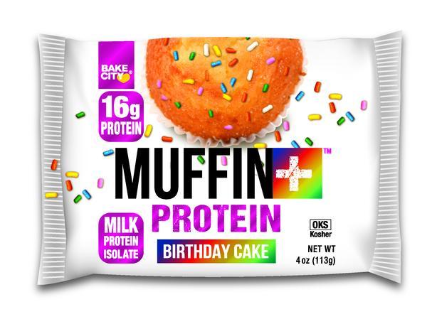 BIRTHDAY CAKE PROTEIN MUFFIN