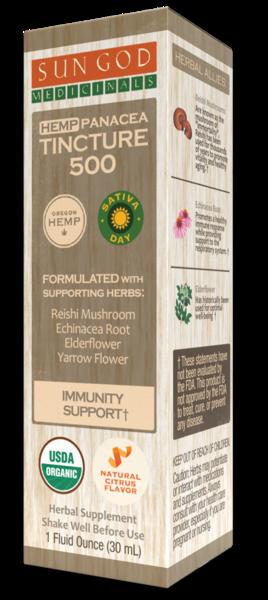 HEMP PANACEA TINCTURE 500 IMMUNITY SUPPORT HERBAL SUPPLEMENT