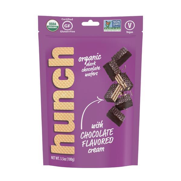 ORGANIC DARK CHOCOLATE WAFERS WITH CHOCOLATE FLAVORED CREAM