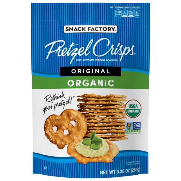 ORIGINAL ORGANIC THIN, CRUNCHY PRETZEL CRACKERS
