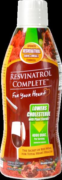 ADVANCED RESVERATROL COQ10 & OMEGA 3 FORMULA SUPPORTS HEART HEALTH LIQUID DIETARY SUPPLEMENT GRAPE FLAVOR