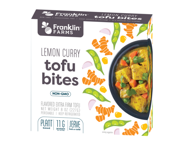 LEMON CURRY FLAVORED EXTRA FIRM TOFU BITES