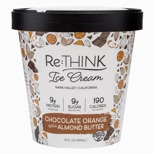 CHOCOLATE ORANGE WITH ALMOND BUTTER ICE CREAM