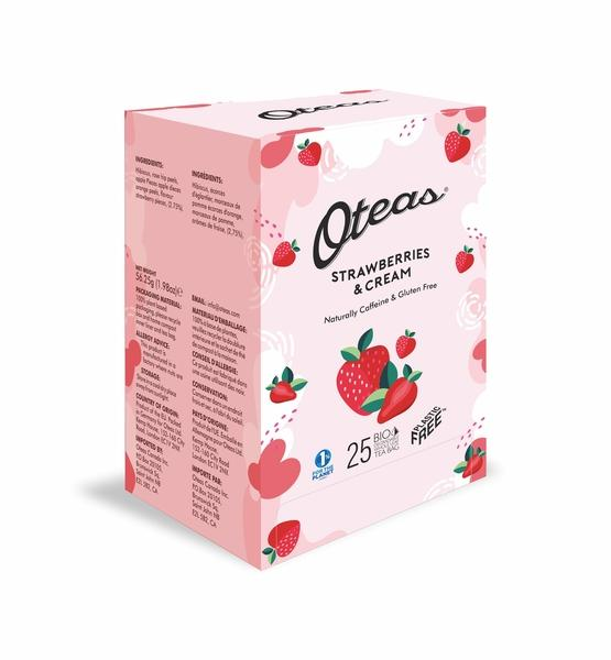 STRAWBERRIES & CREAM BIO DEGRADABLE WHOLE LEAF TEA BAG
