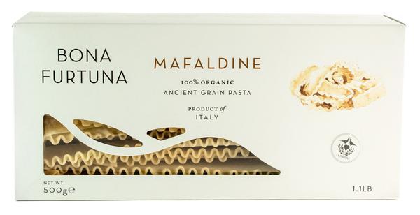 MAFALDINE 100% ORGANIC ANCIENT GRAIN PASTA
