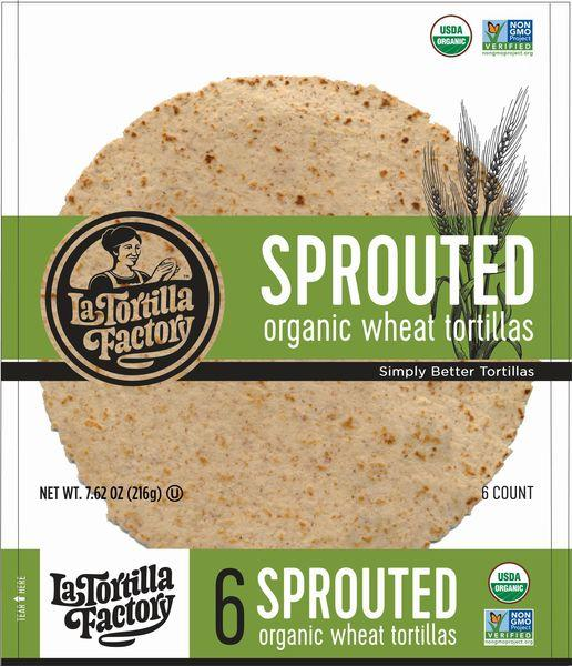 SPROUTED ORGANIC WHEAT TORTILLAS