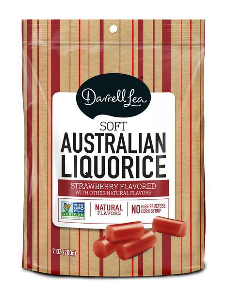 STRAWBERRY FLAVORED SOFT AUSTRALIAN LIQUORICE