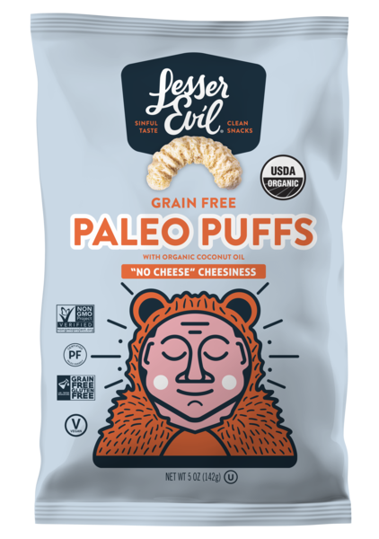 GRAIN FREE PALEO PUFFS WITH ORGANIC COCONUT OIL