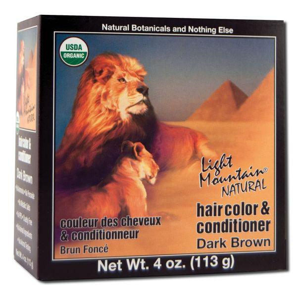 NATURAL HAIR COLOR & CONDITIONER DARK BROWN