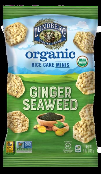 GINGER SEAWEED ORGANIC RICE CAKE MINIS