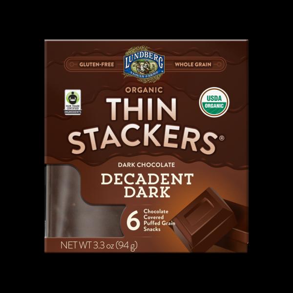 DARK CHOCOLATE DECADENT DARK ORGANIC CHOCOLATE COVERED PUFFED GRAIN SNACKS