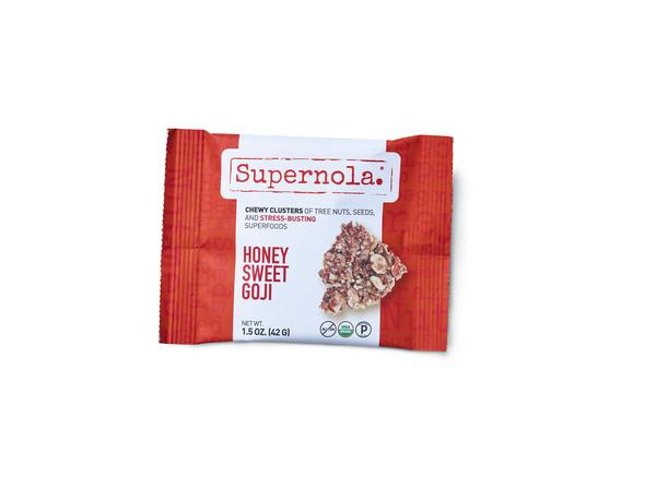 HONEY SWEET GOJI CHEWY CLUSTERS OF TREE NUTS, SEEDS, AND STRESS-BUSTING SUPERFOODS