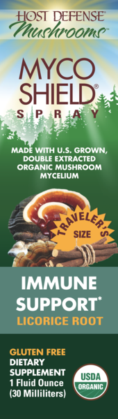 ORGANIC MUSHROOMS MYCELIUM IMMUNE SUPPORT GLUTEN FREE DIETARY SUPPLEMENT SPRAY