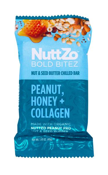 PEANUT, HONEY + COLLAGEN NUT & SEED BUTTER CHILLED BOLD BITEZ BAR