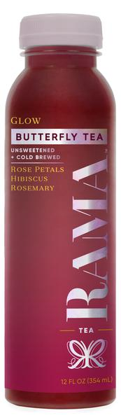 ROSE PETALS HIBISCUS ROSEMARY UNSWEETENED + COLD BREWED GLOW BUTTERFLY TEA