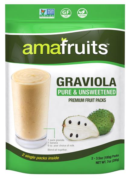 GRAVIOLA PURE & UNSWEETENED PREMIUM FRUIT PACKS