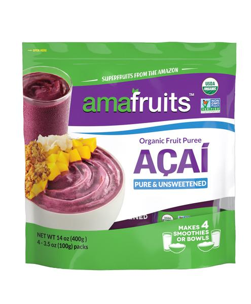 ACAI PURE & UNSWEETENED ORGANIC FRUIT PUREE