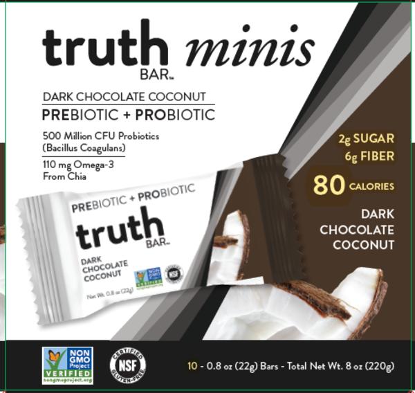 DARK CHOCOLATE COCONUT MINIS BARS