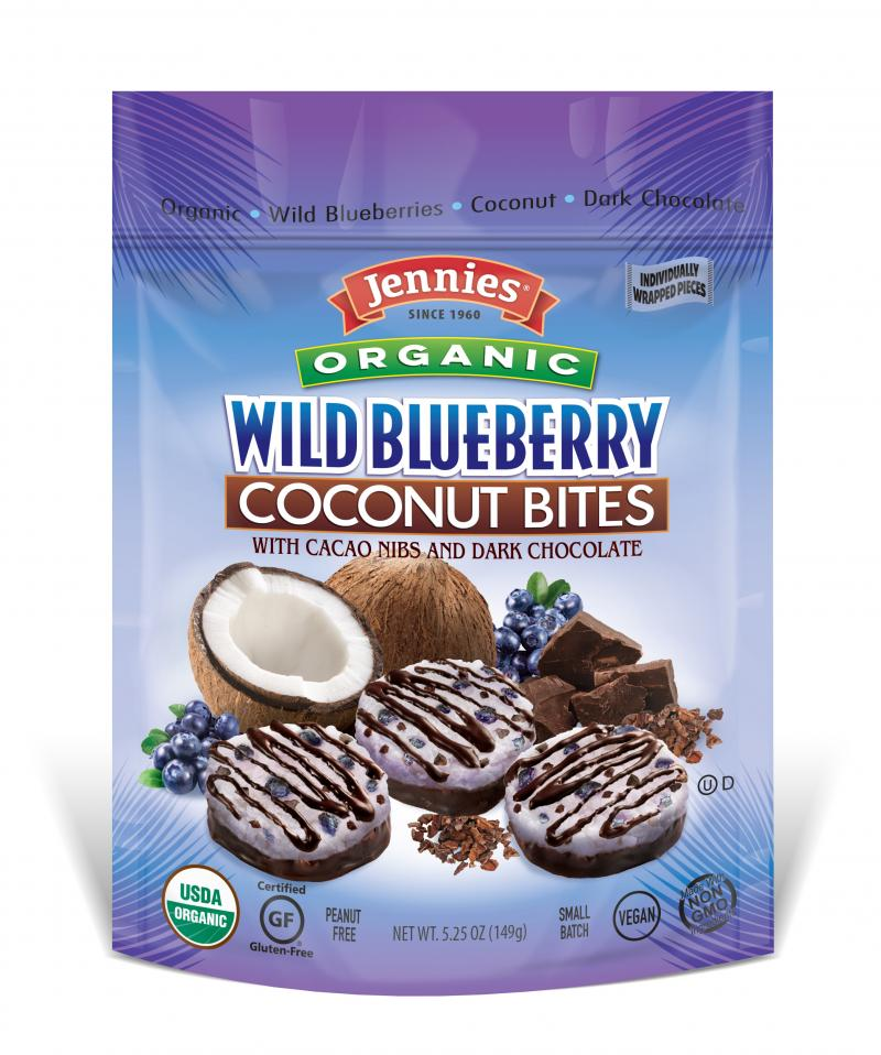 Blueberry Cacao Coconut Bites
